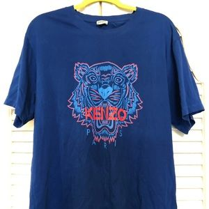 Kenzo Tiger Authentic XXL Blue T-Shirt Top